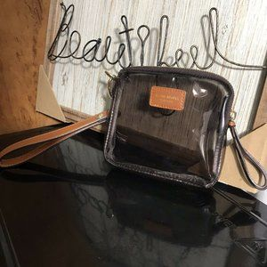 Henri Bendel Clear Travel Pouch Makeup Bag Wallet